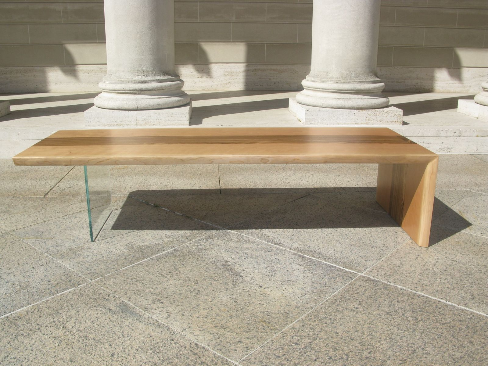 Hand Made Floating L Coffee Table by Design Trifecta LLC