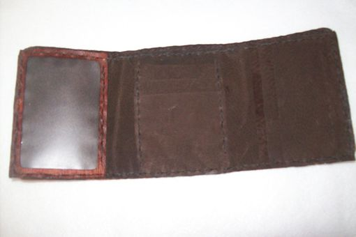 Custom Made Handcrafted Leather Imperial Tri-Fold Wallet