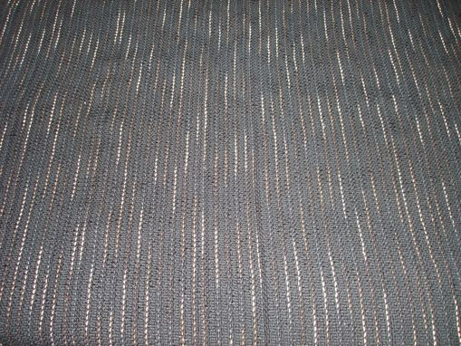 Custom Made Hand Woven Fabric - Variegated Black/Tan/Off White