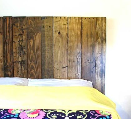 Custom Made Reclaimed Wood Heaboard - Vertical Or Horizontal - All Sizes - Any Colour