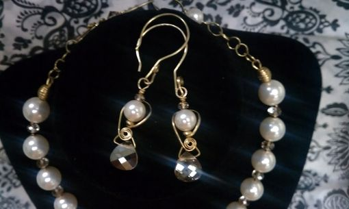Custom Made Wedding Necklace And Earring Set