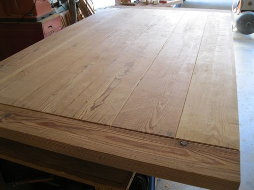 Hand Made Rustic Dining Table Made From Reclaimed Pine By