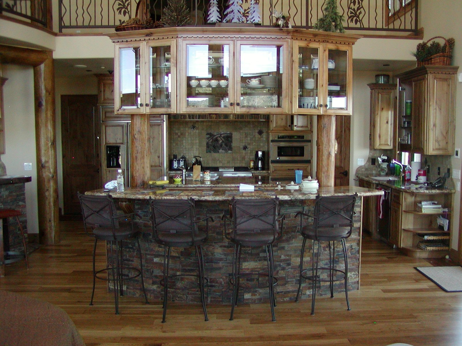 Hand Crafted Knotty Alder Custom Made Kitchen Cabinets Etc by