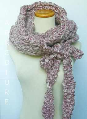 Custom Made The State Street Grande/Wrap N Tie Cowl-Fall,Winter Fashion-Oversized Cowl - Granite Muave