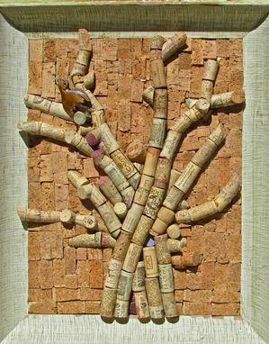 Custom Made Custom Wine Cork Pin Boards And Usable Wine Cork Mosaics In Various Vintage Frames.