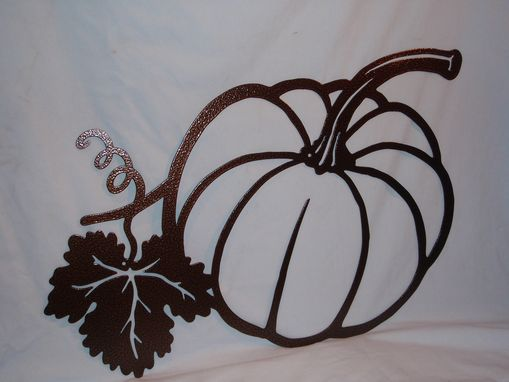 Custom Made Harvest Pumpkin Metal Art
