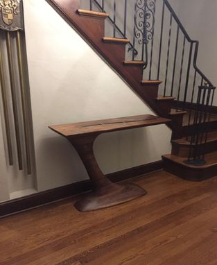 Custom Made Sculpted Cantilever Hall Table