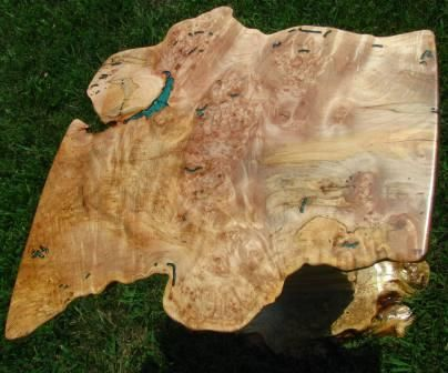 Custom Made Twisted Burl Maple End Table