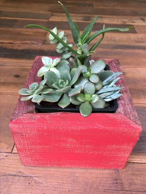 Custom Made Rustic Reclaimed Wood Succulent/Herb Planter Box