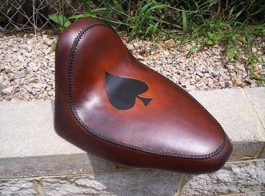 Hand Made Motorcycle Seat By Alamo Custom Leather
