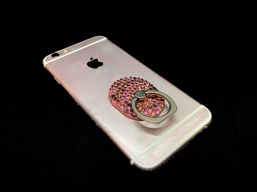 Custom Made Any Color Crystallized Cell Phone Ring Grip Iphone Android Bling Swarovski Crystals Bedazzled