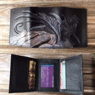 Custom Made Tooled Leather Wallets For Men And Women