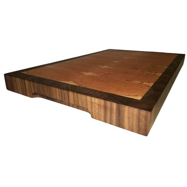 Custom Made Extra Large End Grain Wood Cutting Board