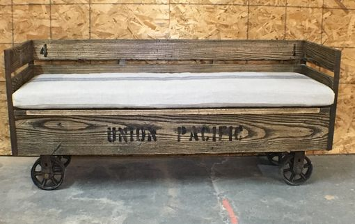 Custom Made Factory Cart Bench