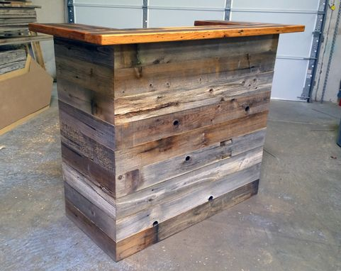 Custom Made Reception Desk Made From Antique Oak & Barn Wood