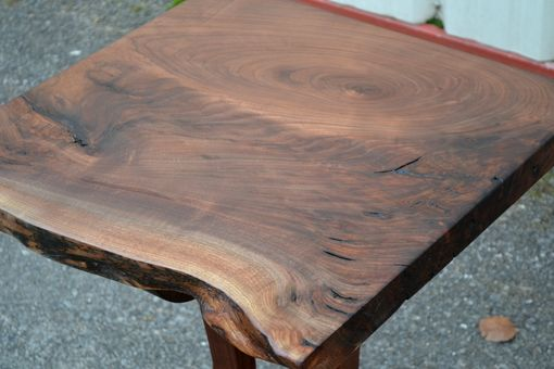 Custom Made Live Edge Walnut Side Table