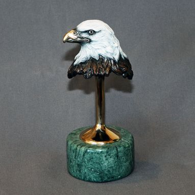 Custom Made Awesome Eagle Bronze Sculpture Figurine Signed Limited Edition