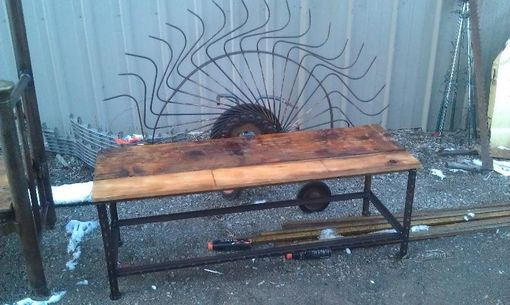 Custom Made Vintage Hay Rake Bench