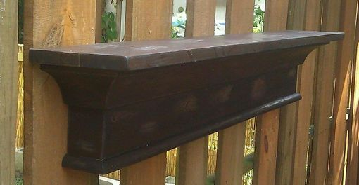 Custom Made Distressed Maple Mantle Shelf Recycled Materials