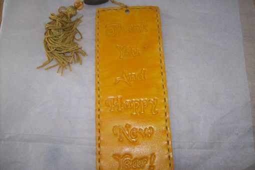 Custom Made Custom Leather Bookmarks With Personal Message