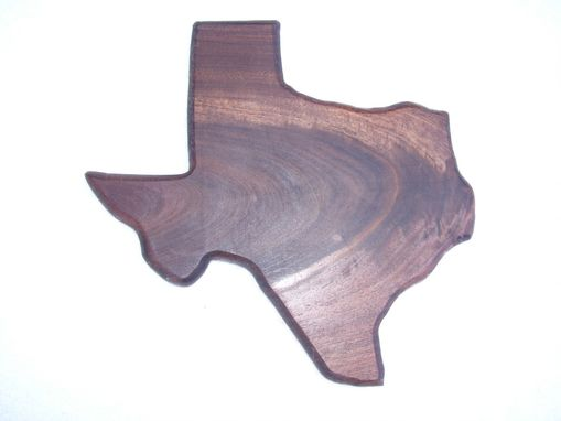 Custom Made State Of Texas Cheese And Cracker Walnut Cutting Board