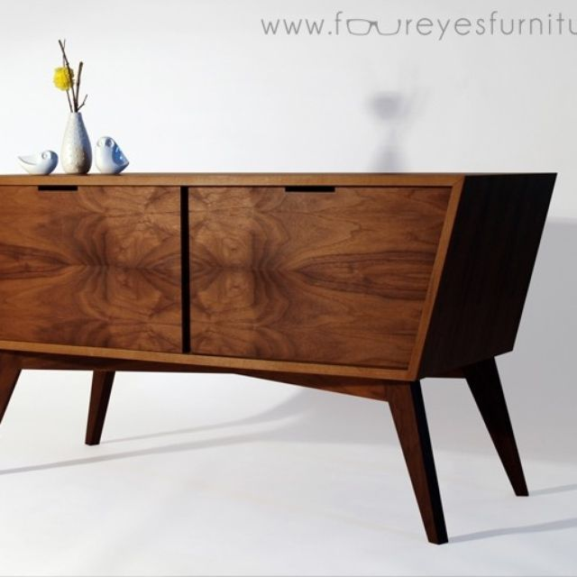 Furniture Design Bad hand crafted bad larry: walnut media consolefoureyes