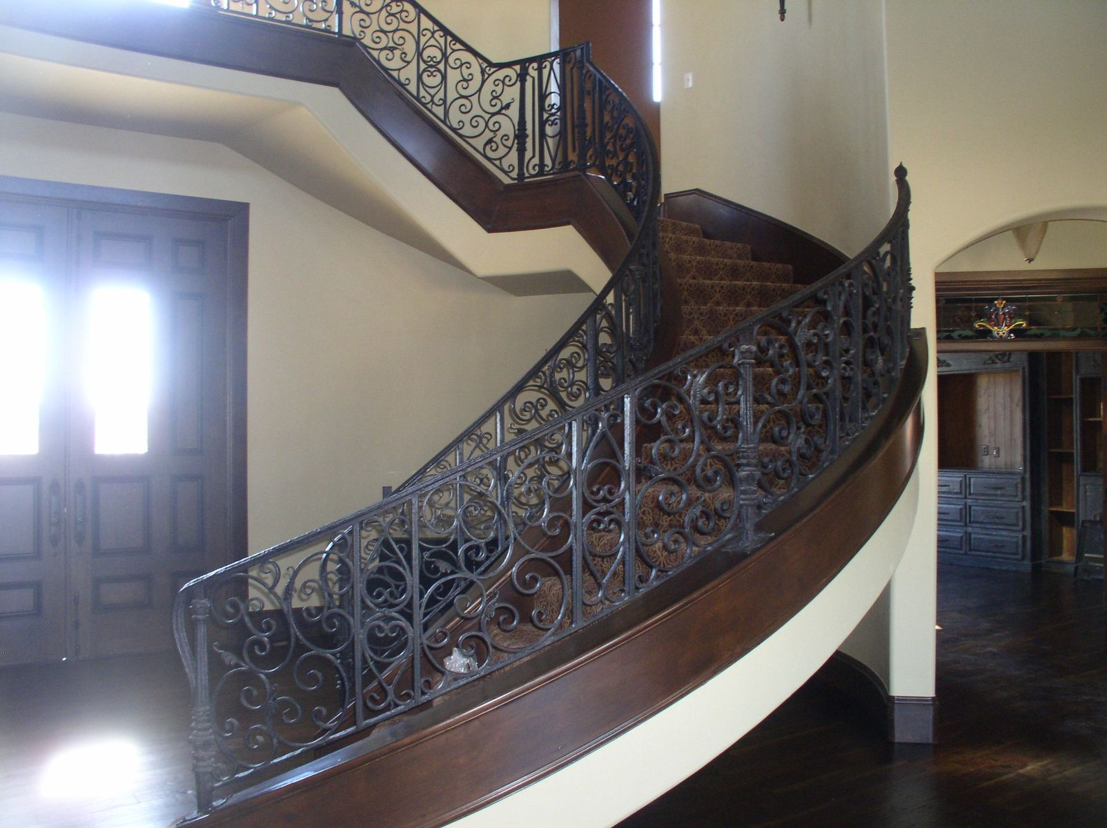 Hand Made Iron Stair Rail By Old World Iron Custommade Com