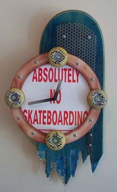 Custom Made Skateboard Clock