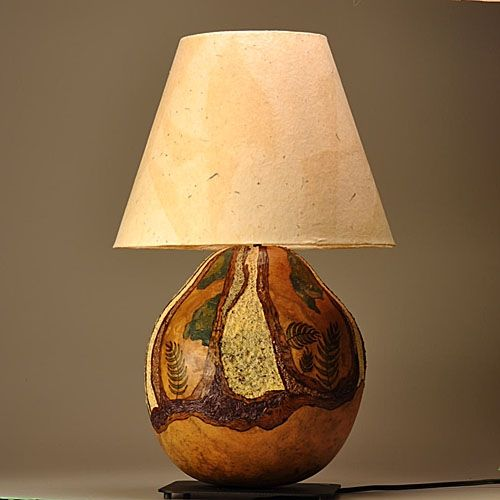 Custom Gourd Lamp Tree Trunk Design By Gourgeous Creations