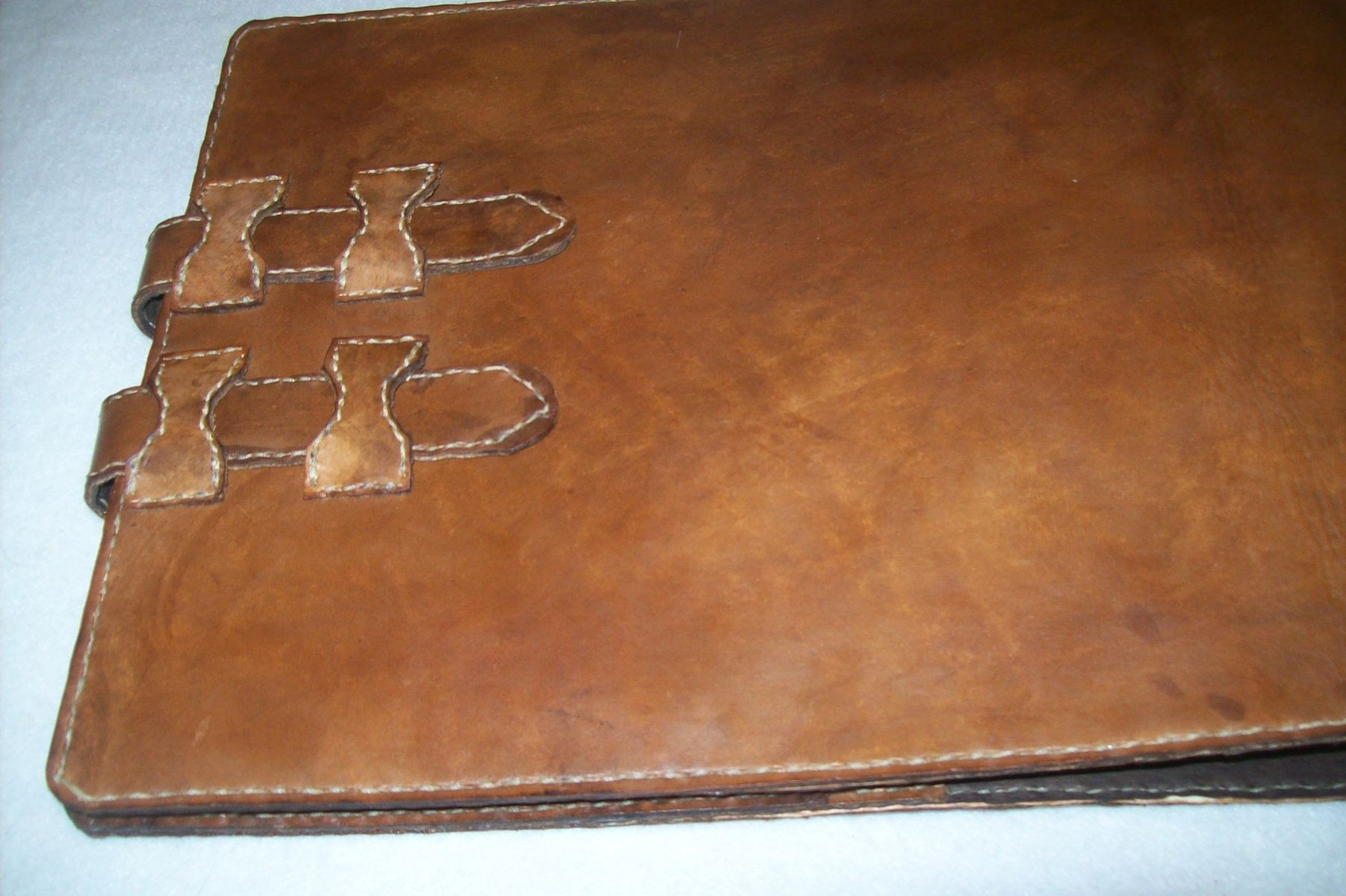 A Hand Crafted Custom Leather Business Checkbook Cover With Name Made To Order From Kerry S Custommade