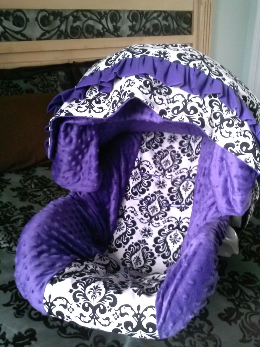 Custom Made Infant Car Seat Slip Cover And Canopy