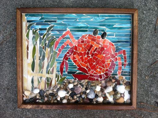 Custom Made Crab Mosaic Wall Art