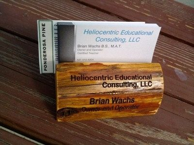 Custom Made Wooden Business Card Holder With Custom Engraving