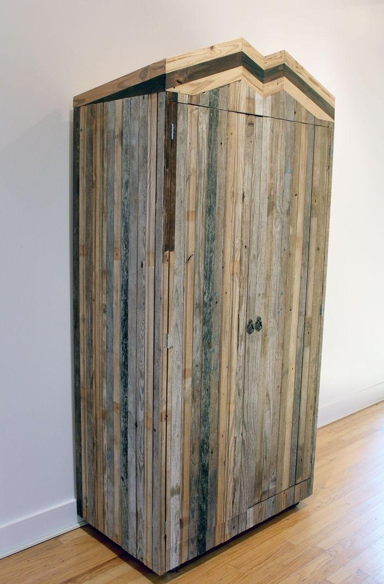 Hand Crafted Rustic Reclaimed Sustainably Harvested Wood Coat Closet By New Antiquity