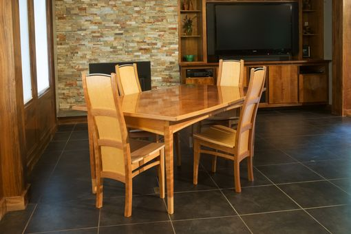 Custom Made Bird's Eye Maple Dining Set
