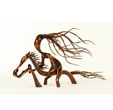 Custom Made Wind-Horse And Rider