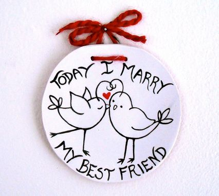 Custom Made Love Bird Ring Bearer Bowl, Pillow