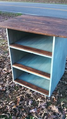Custom Made Duck Egg Blue Kitchen Island