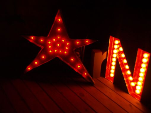 Custom Made Christmas Decoration Star Large Huge Vintage Marquee Art Letter Bulb Channel