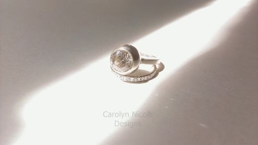 Custom Made Bubble Bezel Engagement Ring