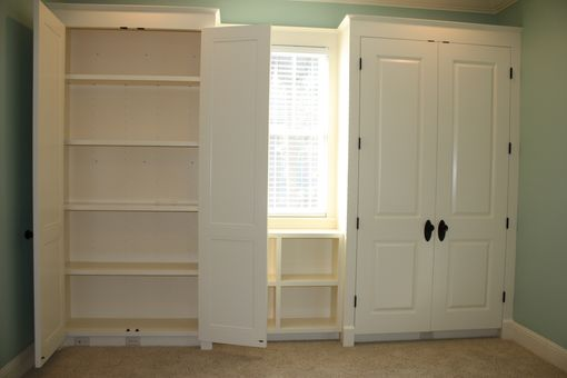 Custom Made Bookcase And Storage Cabinets
