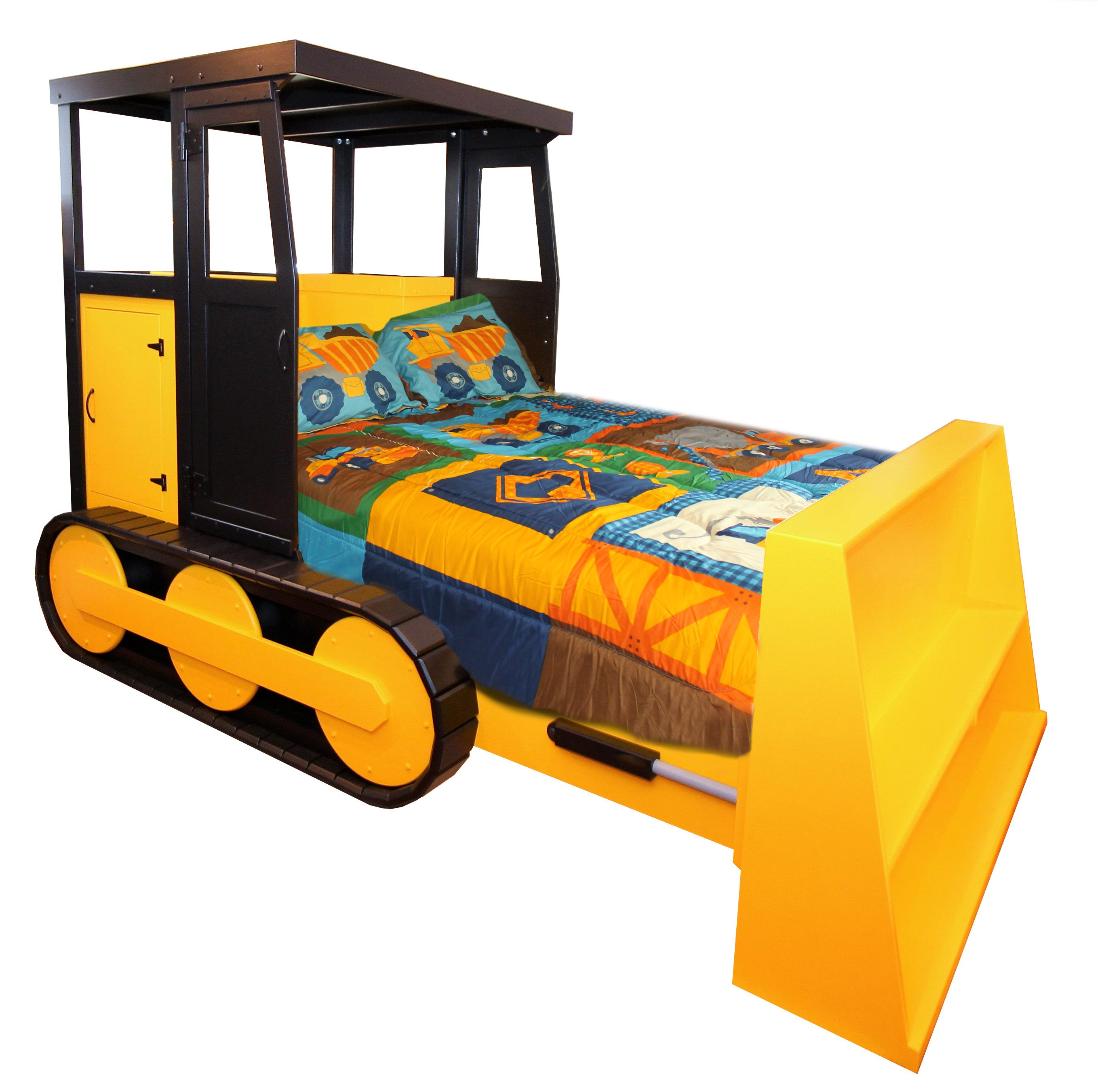 Order Furniture: Buy A Hand Made Bulldozer Bed For Full Size Mattress Set