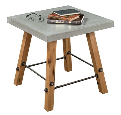 Custom Made Local Yoder Cement Top End Table Industrial Modern