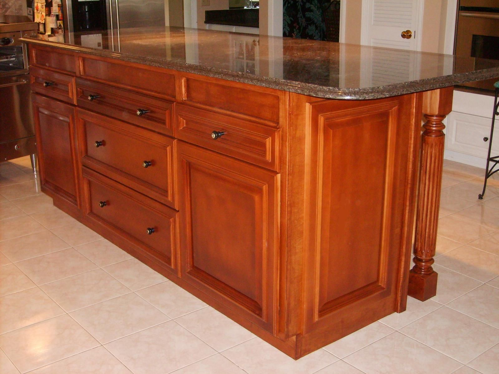 Custom Made Custom Maple Kitchen Island