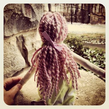 Custom Made Rag Doll /Organic Cotton Muslin /Plant Dyed /Up-Cycled / Vintage Clothing