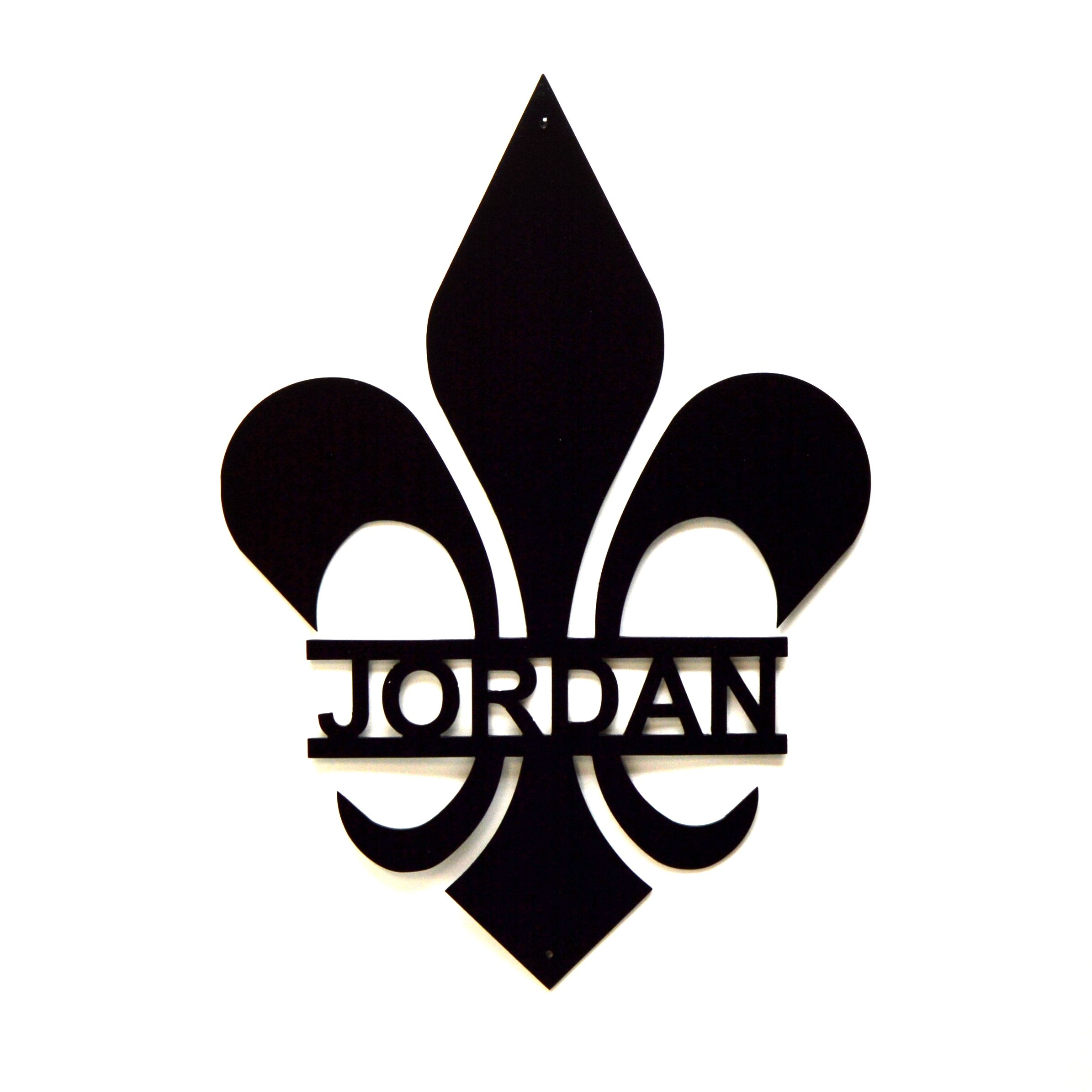 Buy a Hand Made Personalized Fleur De Lis Metal Wall Art, made to ...