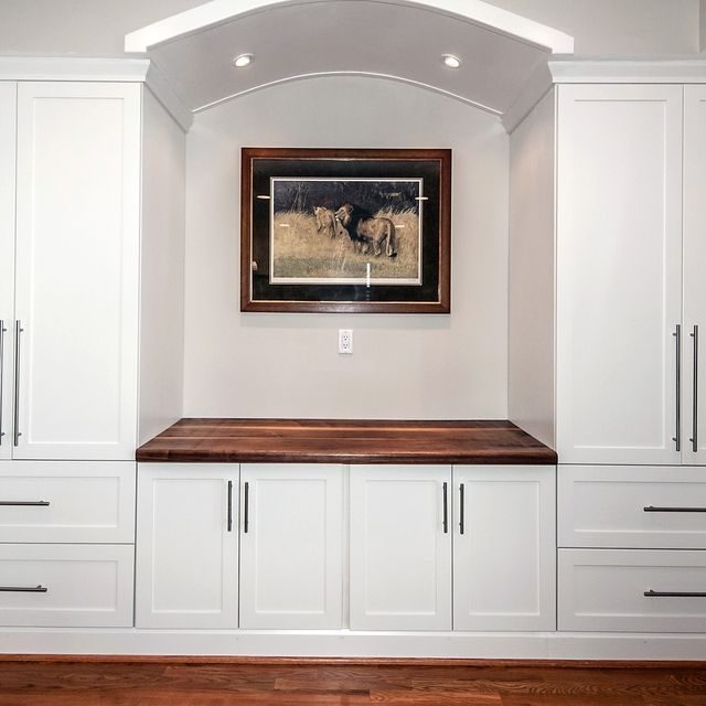 Custom Built In Counter Top Wall Unit By Design Jeff Spugnardi