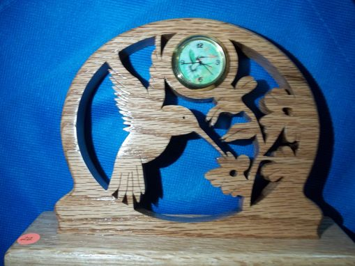 Custom Made Scenic Art With Small Desk Clock