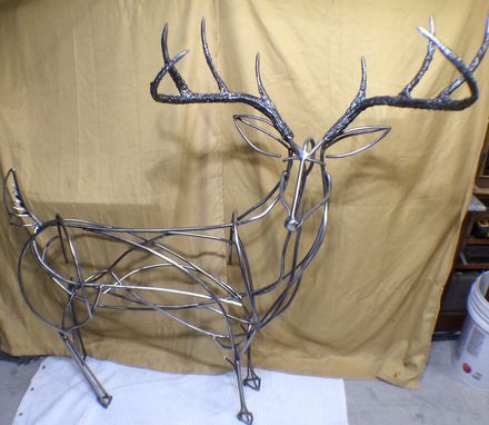 Custom Made Ornamental Buck Sculpture/Driveway Monument