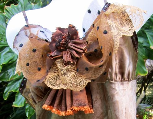 Custom Made Copper Camisole With Beads, Lace, Ruffles And Sequins